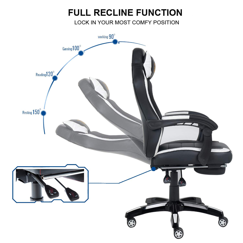 Y Silla Reposacabezas silla OrdenadorGiratoria Con Ergonómica Reposapiés Gaming De 60 Grados Gamer OficinaEscritorio Wahson CBohQxsdtr