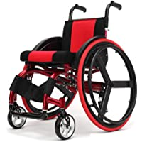Sports and Leisure Wheelchairs, Medical Driving Wheelchair Portable, Elderly Disabled Persons Aluminum Lightweight Sport Wheelchair