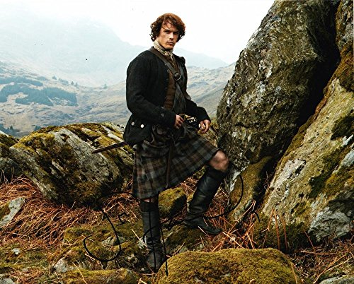 (HOT SEXY SAM HEUGHAN OUTLANDER SIGNED 8X10 PHOTO AUTHENTIC AUTOGRAPH COA PROOF I)