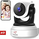 New Version Victure WiFi IP Camera 720P HD Wireless Indoor Home Security Surveillance Camera with Night Vision Motion Detection Playback 2-Way Audio Dome Home Monitor for Baby Elder Pet Pan/Tilt/Zoom