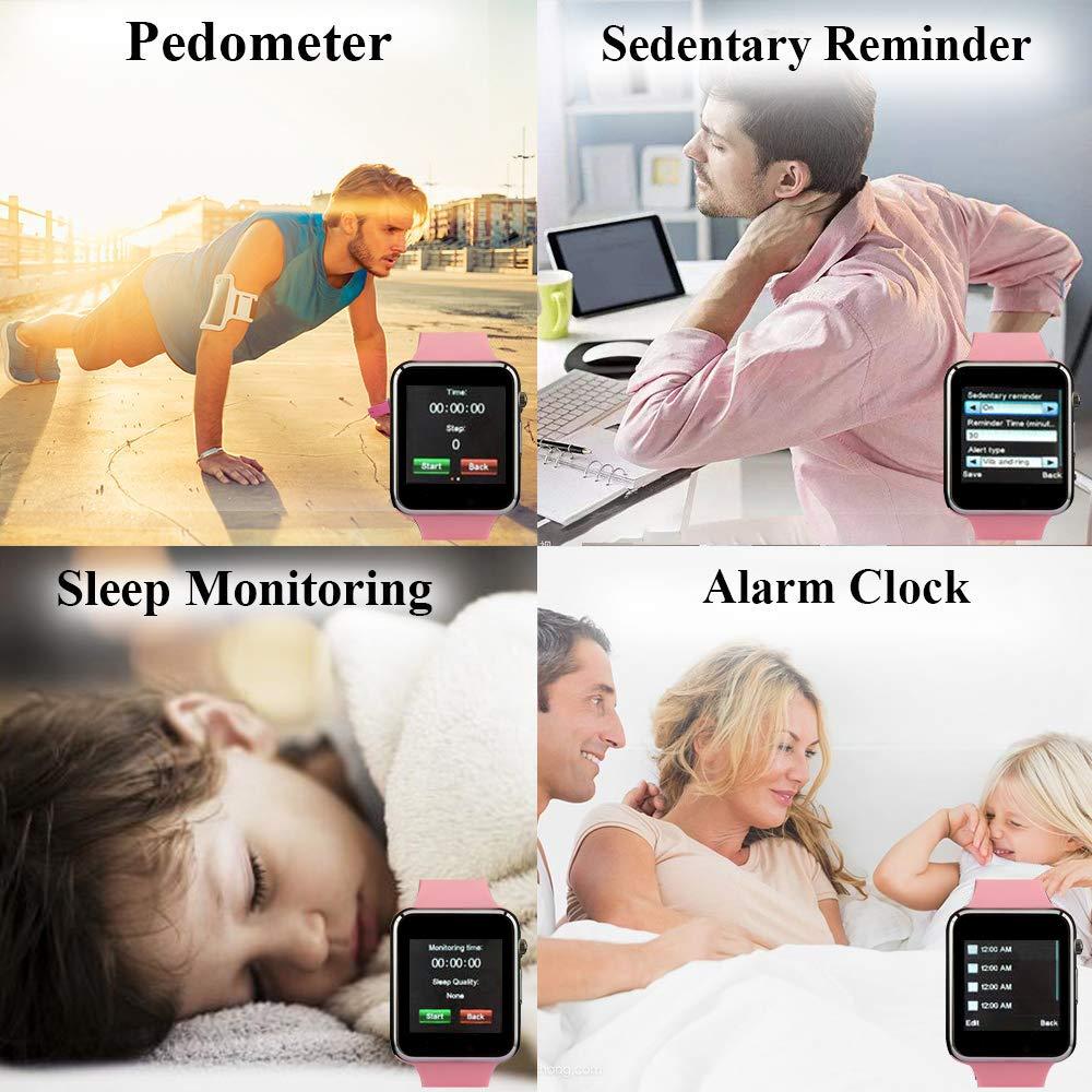 Janker - Reloj Inteligente Bluetooth Compatible con teléfonos ...