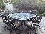 Heritage Outdoor Living Santa Monica Cast Aluminum 9pc Outdoor Patio Set with 64'x64' Square Table - Antique Bronze