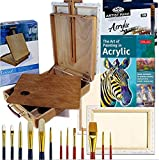 Artist Quality Table Easel with Acrylic Art Set Complete Painting Supplies & More