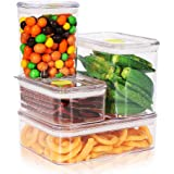 Synziar Food Storage Containers With Lids 4 Pieces Air-Tight Food Containers Set BPA Free
