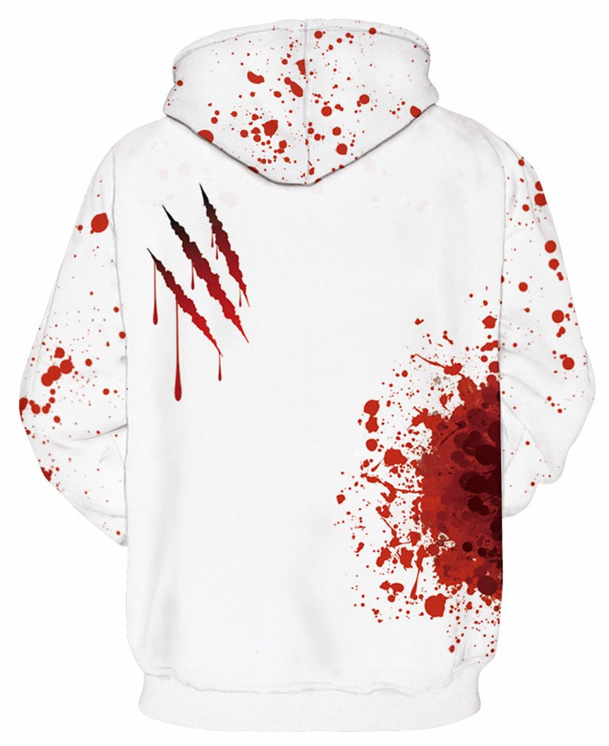 Prettyard Men Women Bloody I'm fine Saying Casual Hipster White Sweatshirt Hoodie - US(Men:M = Women:12-14/L) Ignore Our tag by Prettyard (Image #3)