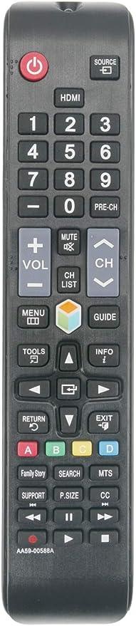 ALLIMITY AA59-00588A Control Remoto Reemplazar por Samsung TV UN32EH4500G UN32EH4500GXZE UN46ES6100GX HD1341 AA5900588A: Amazon.es: Electrónica