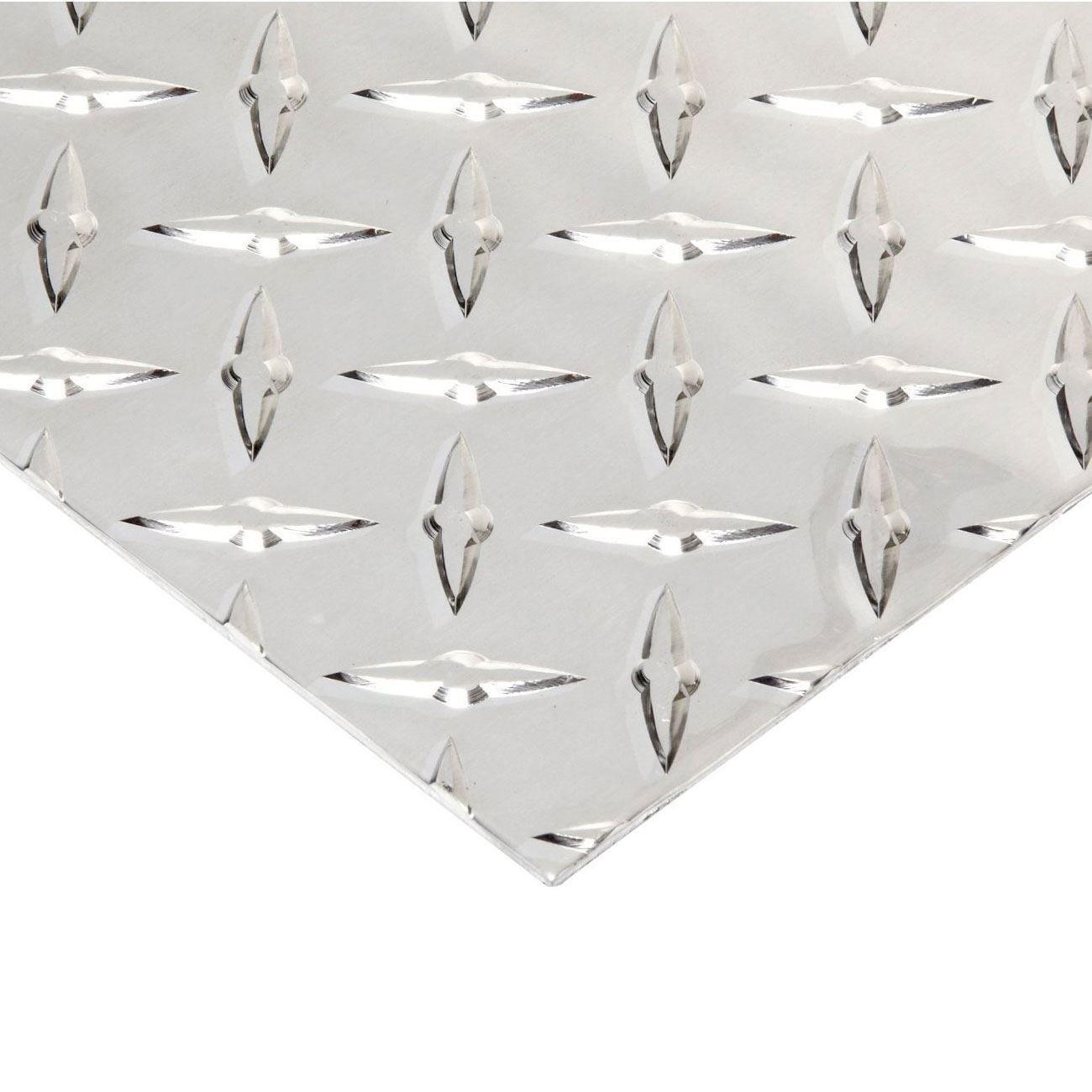 Online Metal Supply Aluminum Diamond Tread Plate 0.080'' x 12'' x 48'' by Online Metal Supply