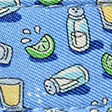 Vineyard Vines Mens Canvas Leather Club Belt (Tequila Bimini Blue, 32)