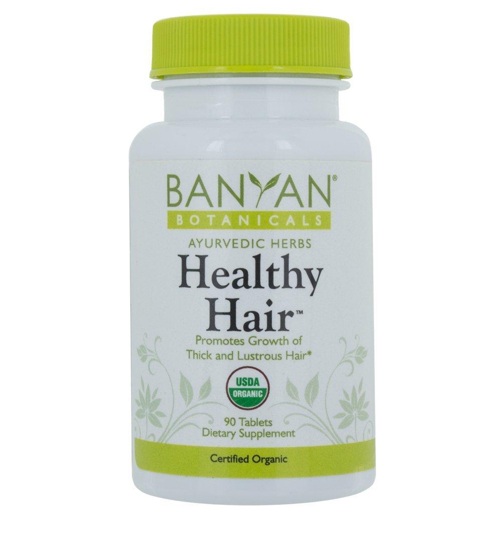 Banyan Botanicals Healthy Hair - USDA Certified Organic, 90 Tablets - Nourishing Herbal Formula for All Hair Types by Banyan Botanicals (Image #2)