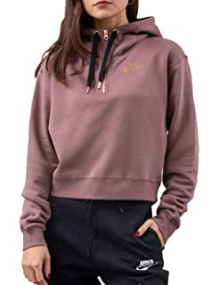 on sale f2d61 c29af Nike Womens NSW Air Half Zip Fleece Hoodie