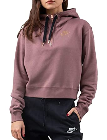 62300838dc Nike Sportswear Air FLC Sweats À Capuche Femme Rose XS (X-Small ...