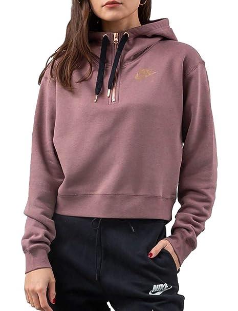 amazon best authentic buy Nike Womens NSW Air Half Zip Fleece Hoodie: Amazon.co.uk ...