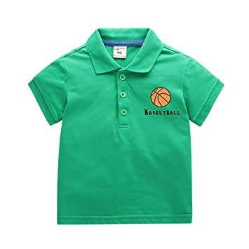 Camiseta De Baloncesto Para Niños Camiseta De Manga Corta Polo ...