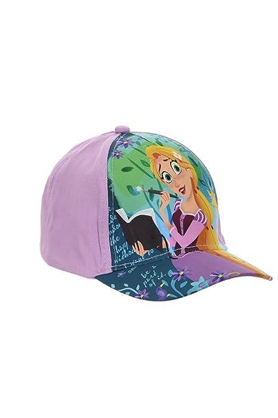 Disney Gorra, Gorra de Béisbol, Gorra para Niños, Niñas, Rapunzel, 100% Algodón con Velcro Ajustable: Amazon.es: Ropa y accesorios