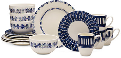 Mikasa Dinnerware 16-Pc. Siena Blue Set, Service for 4 - Dinnerware - Dining & Entertaining - Macy's