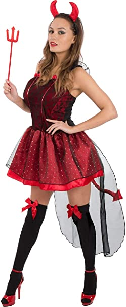 ORION COSTUMES Adult Halloween Cute Devil Costume: Amazon ...