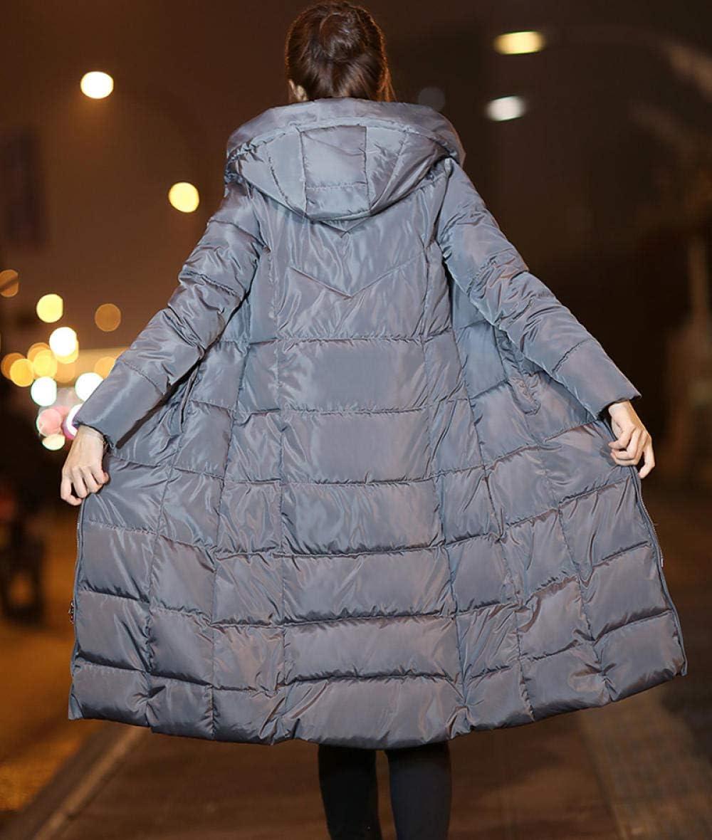 ZTCoats Giacche da Donna,Donne Inverno Giacca Grigia con Cappuccio Collare Stand Abbigliamento Esterno Femmina Cappotto Parka Giù Caldo Cotone Lungo Eskimo Cappotti As shown