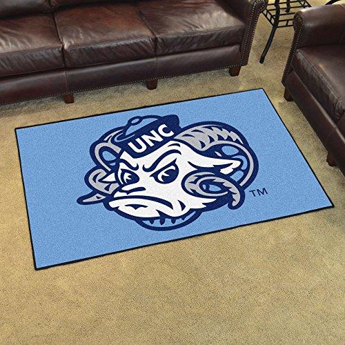 "Fanmats Ncaa UNC North Carolina - Chapel Hill College Sports Team Logo Nylon Carpet Indoor Home Room Decorative Tailgating Party Area Rug Floor Mat 4x6 46""x72"""