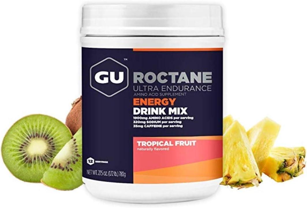 GU Energy Roctane Ultra Endurance Energy Drink Mix, 1.72-Pound Canister, Tropical Fruit