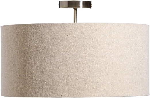 Lámpara de techo contemporánea con pantalla de lino beige ø 45 cm - LOLAhome: Amazon.es: Iluminación