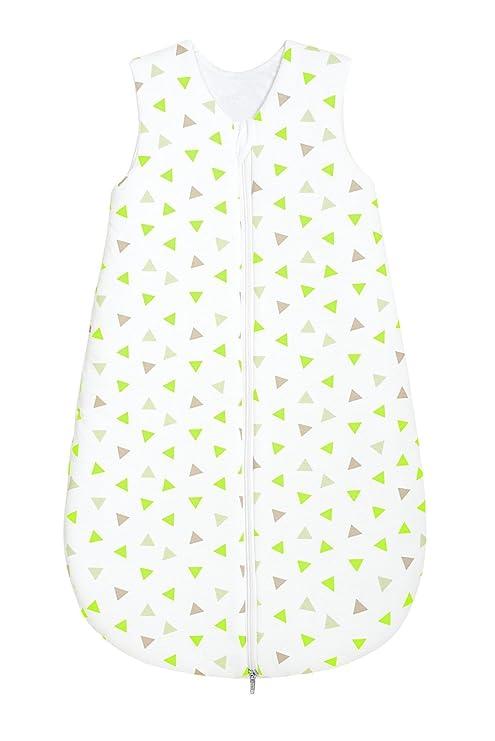odenwälder Basic Jersey de saco de dormir Verano triángulos cal verde lima Talla:110 cm
