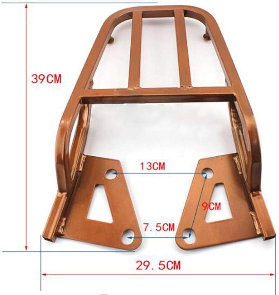 B Baosity Motorcycle Sissy Bar Luggage Rack Tail Box Saddlebag Shelf for Honda Grom MSX125 MSX 125 Black