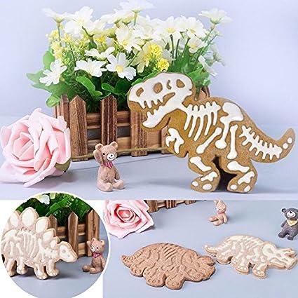 3 Stücke Dinosaurier Geformt Ausstecher Form Keks Gebäck Kuchen Backform Küche