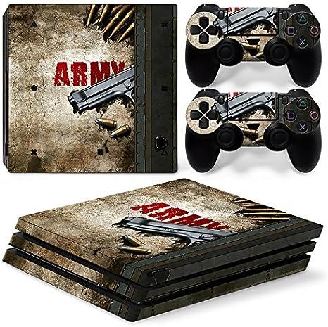 6 North Design Ps4 Pro Playstation 4 Pro Pegatinas De La Consola Army Gun + 2 Pegatinas Del Controlador: Amazon.es: Videojuegos