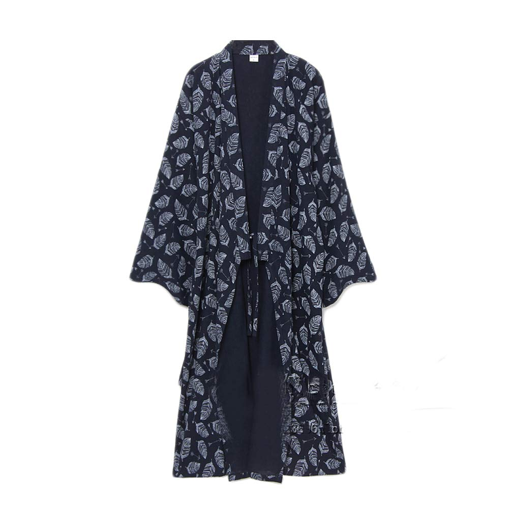 FANCY PUMPKIN Men's Yukata Robes Kimono Robe Khan Steamed Clothing Pajamas