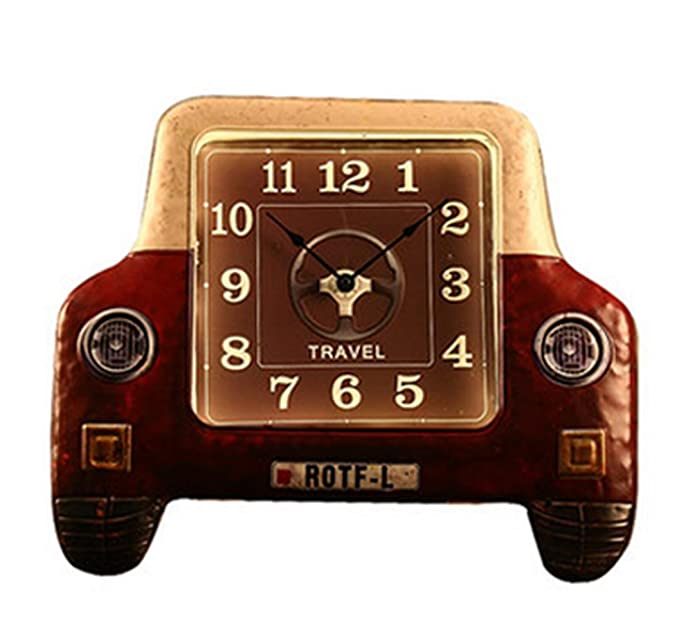 Hierro Retro LED Reloj de pared Sala Infantil de pared Reloj de pared de silencio de