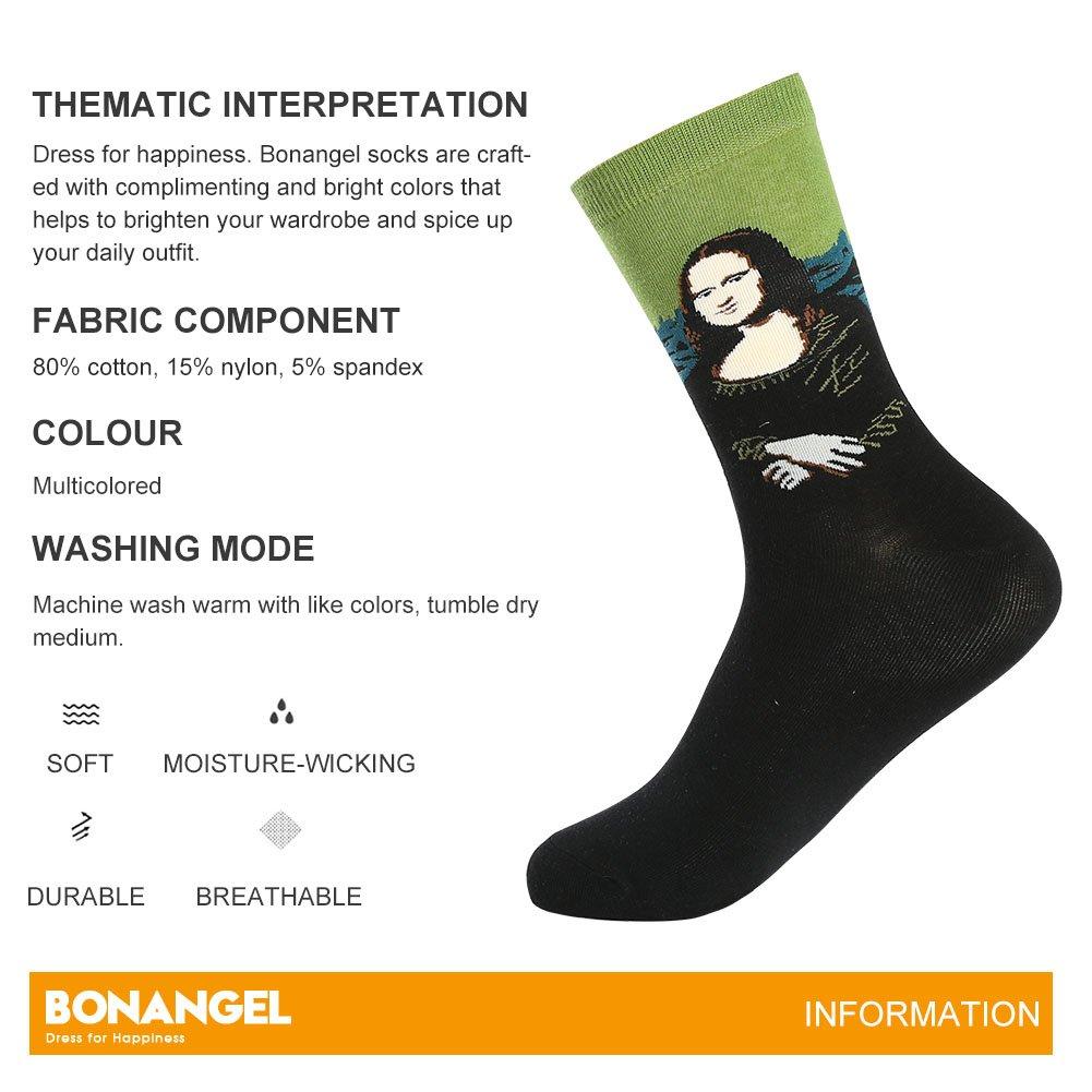 Bonangel Men's Fun Dress Socks-Colorful Funny Novelty Crew Socks Pack,Art Socks by Bonangel (Image #3)