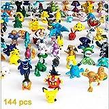 Moolee 1 Complete Set Per Lots 144Pcs POKEMON Action Figures 2-3cm