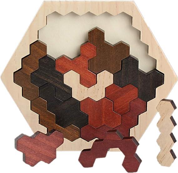 Montessori - Juego de mesa y puzle (14 piezas), diseño de ...