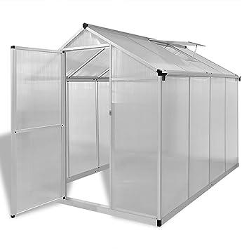 vidaXL Invernadero Caseta Jardin Terraza Cultivo de Plantas Aluminio Reforzado 4, 6 m2: Amazon.es: Jardín