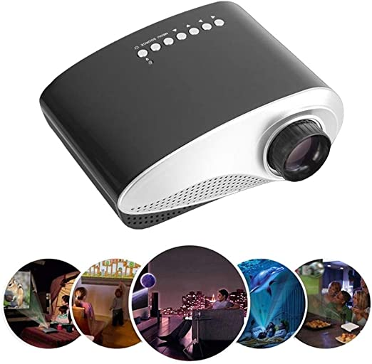 ZDNP Mini proyector portátil, 50,000 Horas Bombilla LED Vida Cine ...