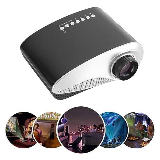 WZHESS Mini proyector portátil, 50,000 Horas Bombilla LED Vida ...
