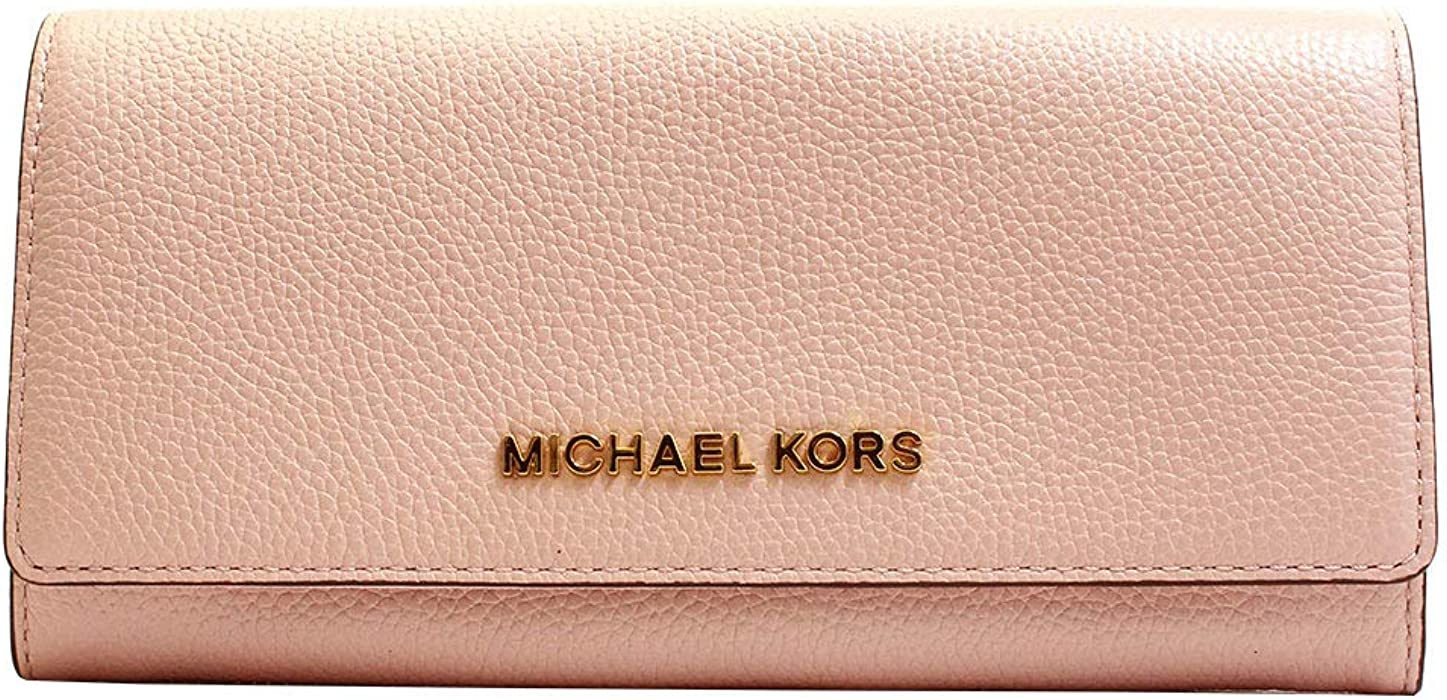 5cb8331bf28c MICHAEL Michael Kors Jet Set Travel Carryall Flap Wallet Pebble Leather -  Blossom