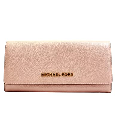 0407c81c55e0 MICHAEL Michael Kors Jet Set Travel Carryall Flap Wallet Pebble Leather -  Blossom  Amazon.co.uk  Clothing