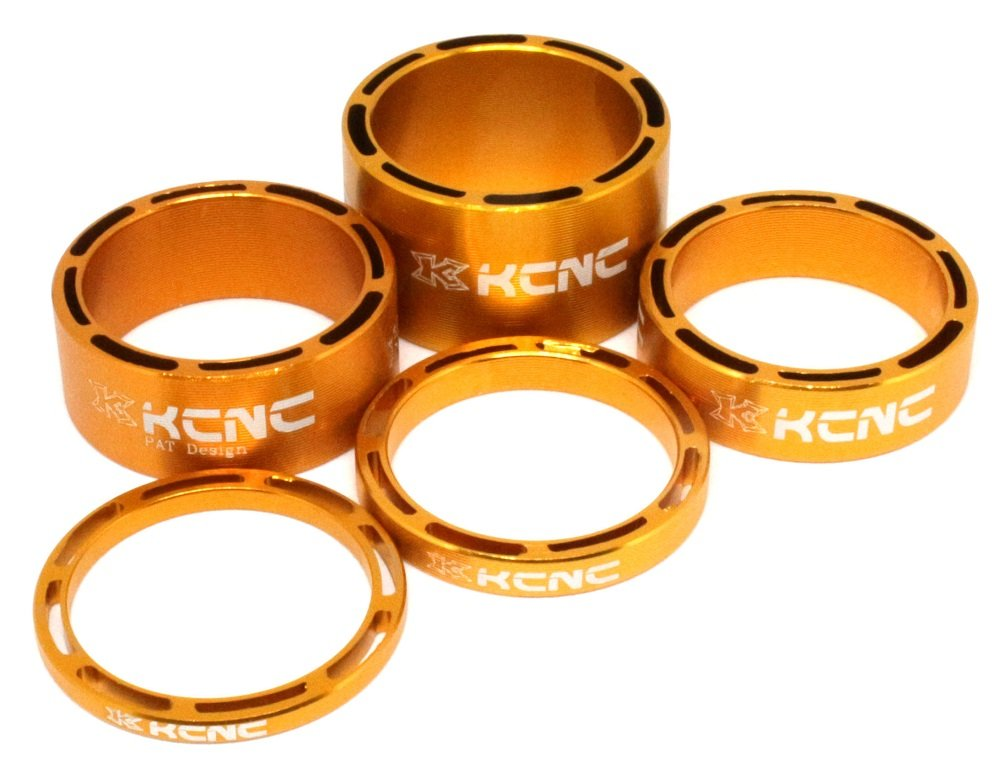 """NEW KCNC HOLLOW 1 1//8/"""" HEADSET SPACER SET 3-5-10-14MM ROAD MTB BLUE"""