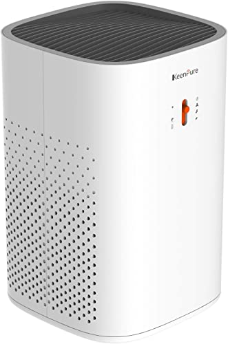 KeenPure Air Purifier with True HEPA Filter, Allergies Eliminator for Pets Dander, Smokers, Odors, Compact Air Cleaner for Home and Office, Super Quiet and Ozone Safety