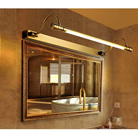 5W 35cm Aplique Espejo ba/ño con Impermeable Apliques de Pared Led Lampara de Espejo Acero Inoxidable 180 /°/Ángulo ajustable Luz Natural