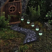 "Miniature Dollhouse FAIRY GARDEN ~ Glowing Acorn Path Lights â€"" Set of 5 ~ NEW"