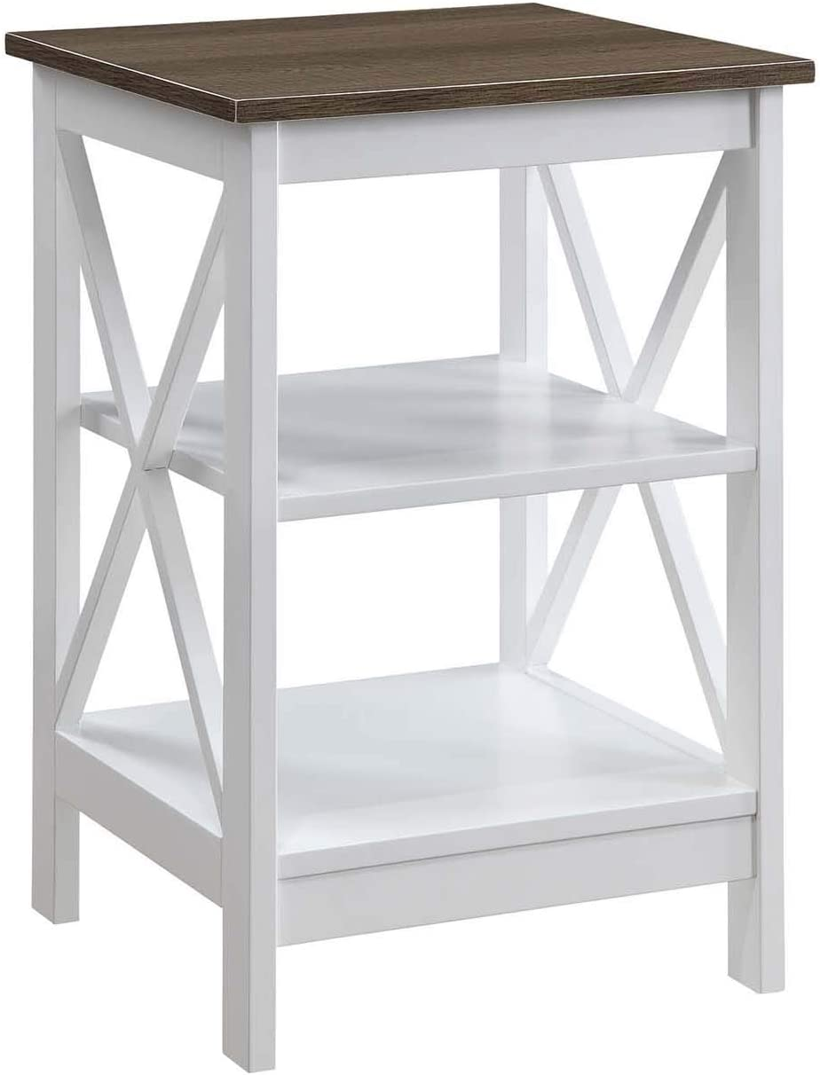 Convenience Concepts Oxford End Table, Driftwood / White