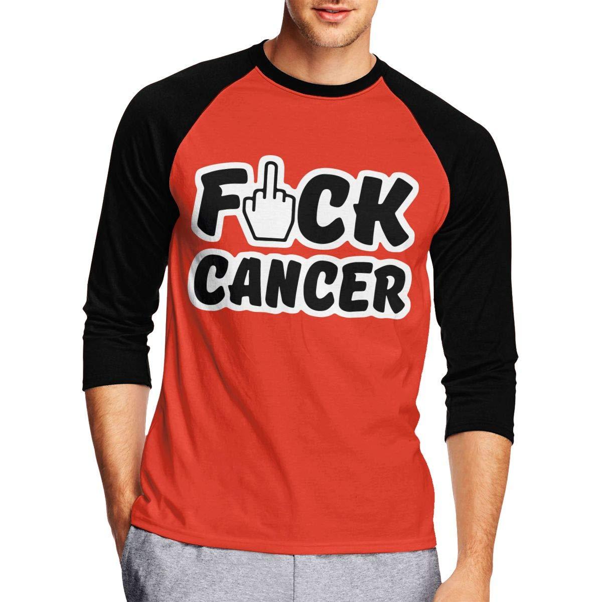 DFGHJZH-L Fuck Cancer Mens Funny Adult Long Sleeve T Shirts