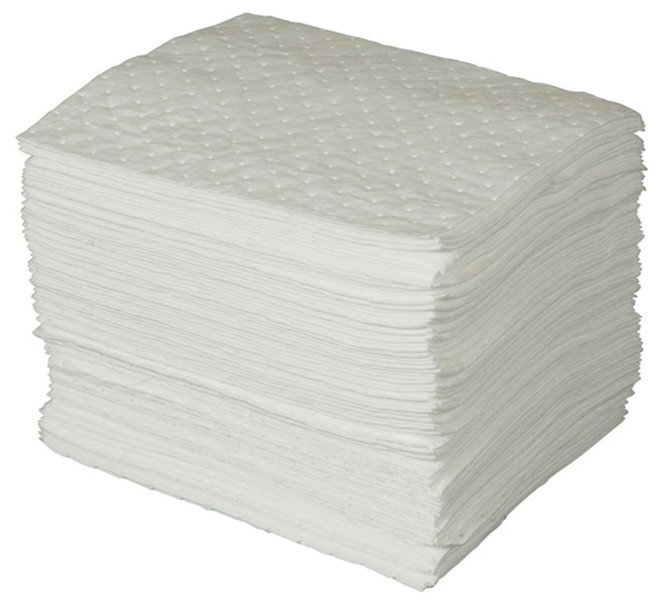 Brady SPC Basic Oil-Only Heavy Weight Absorbent Pad, White, 15'' L x 17'' W (100 Sheets Per Bale) - BPO100 by Brady SPC
