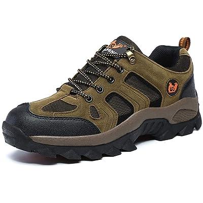 HongXingHai Waterproof Low Hiking Shoes Men Lightweight Sneakers Non-Slip Mesh Breathable Climbing Trekking Walking Shoe   Hiking Shoes