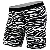 BN3TH Men's Standard Classics Boxer Brief Premium Underwear with Pouch, Tiger White/Black, X-Large