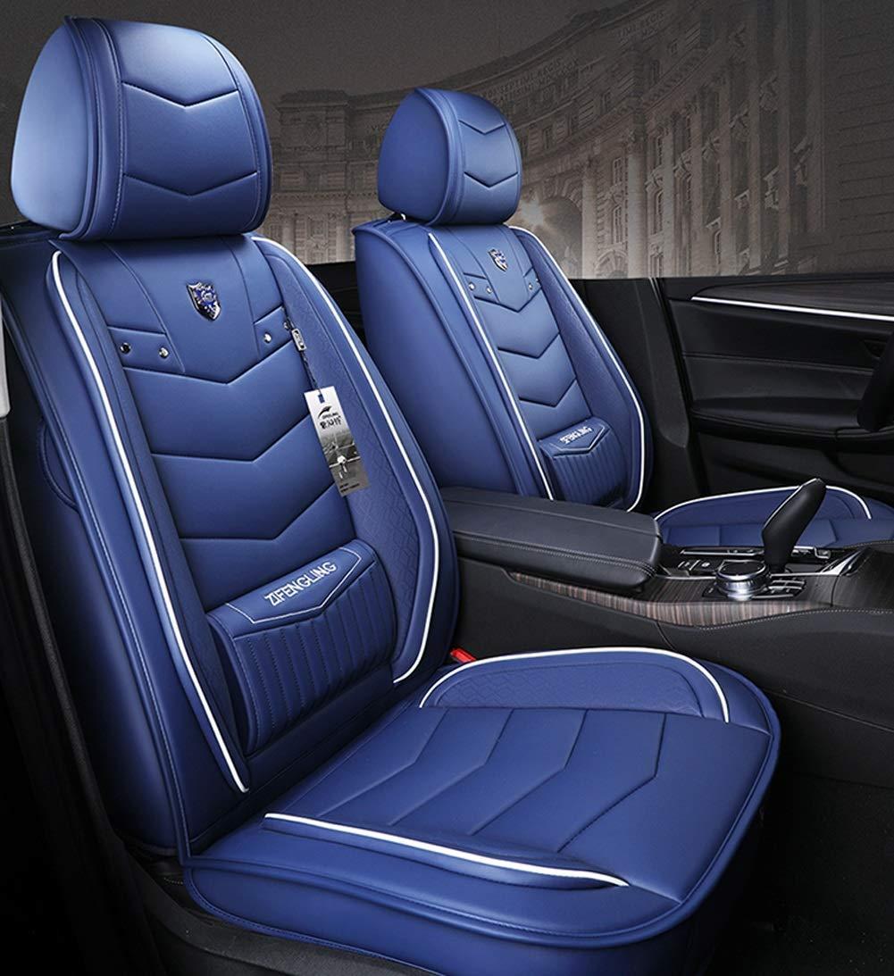 シートカバーレザーカーシートカバー - フルセット、フィット5シートカー - 年中使用(色:青、サイズ:標準) Standard Blue B07TXCG95C