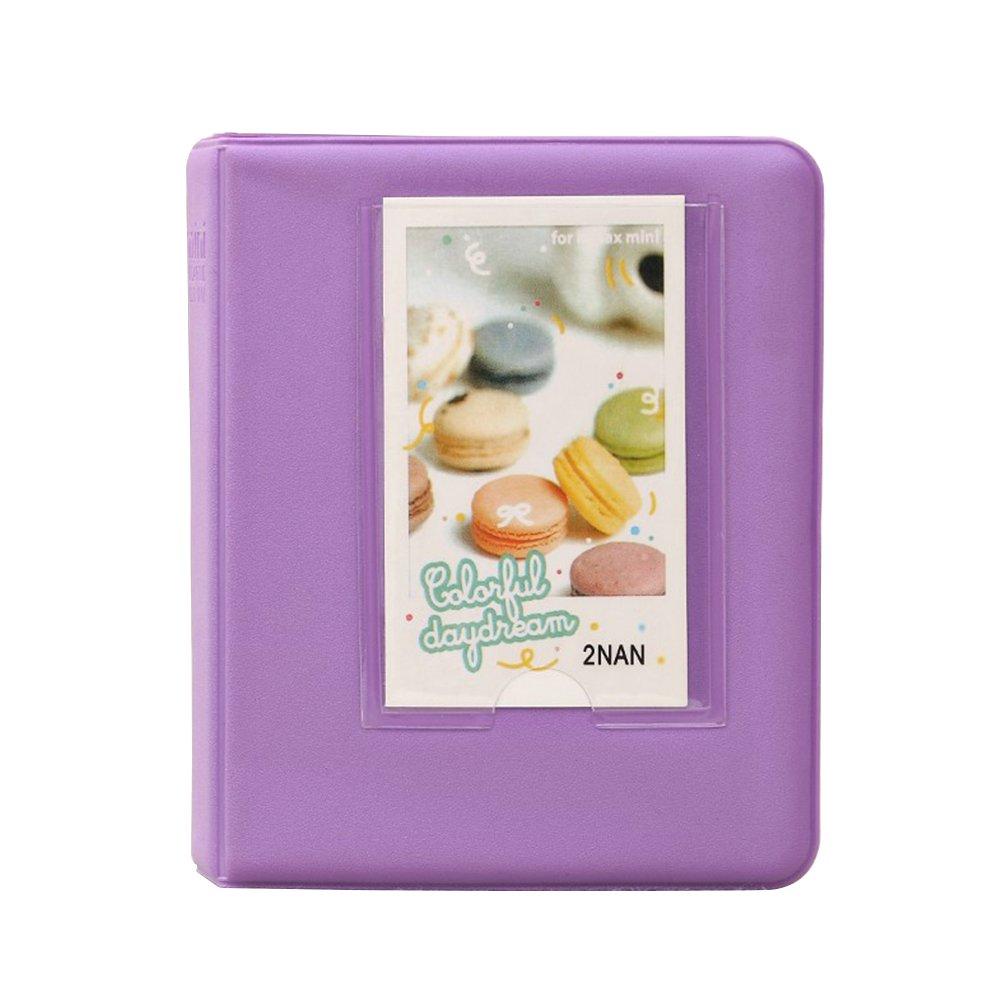 Ledmomo 64 Taschen Mini Fotoalbum Fr Fujifilm Instax Sofort Album Kamera Polaroid 2nan Colorful Rcken 3 Zoll Einband Aus Stoff Buch Violett Kche
