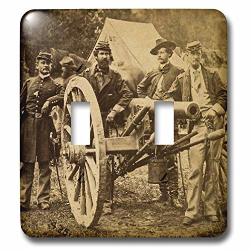 3dRose lsp_240506_2 2 Vintage Civil War 1862 Battle of Fair Oaks Virginia Stereo View-Double Toggle Switch